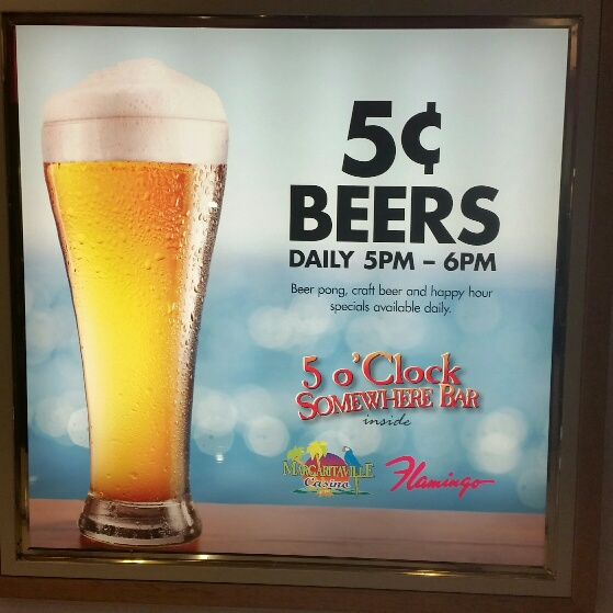 Margaritaville Five Cent Beer Daily