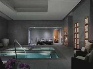 indoor pool is part of the spa