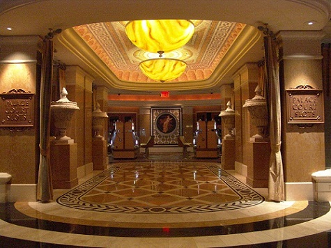 elegant entrance to high limit slots at caesar