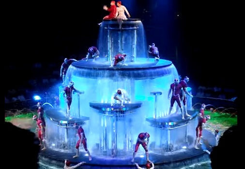 Le Reve the dream in the newly remodeled lereve theater Las Vegas Wynn Hotel