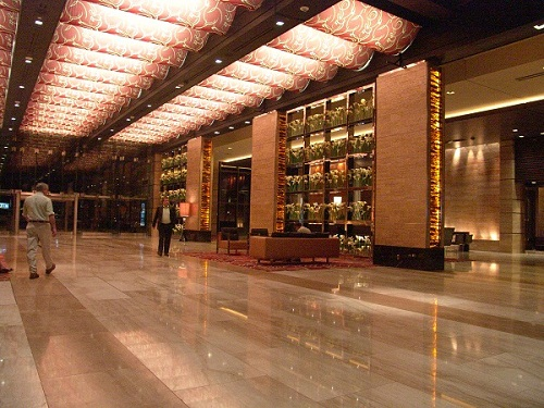 lobby and glass wall