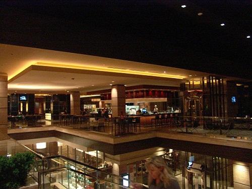 lobby has views of three level