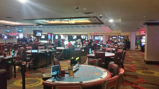 all the usual table games in a spacious area