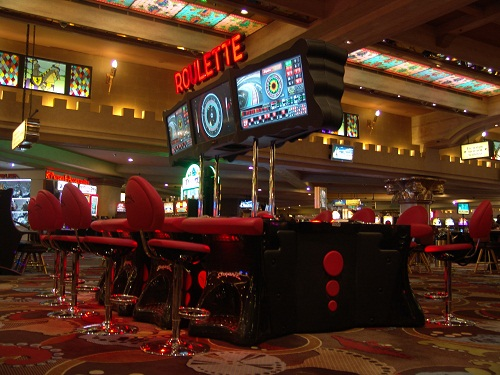 full view of the new roulette vegas gam