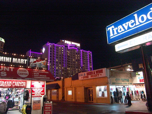 travel lodge from strip facing hotel