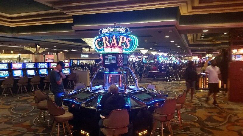 Ballys has the machine version of craps as well as the traditional tables