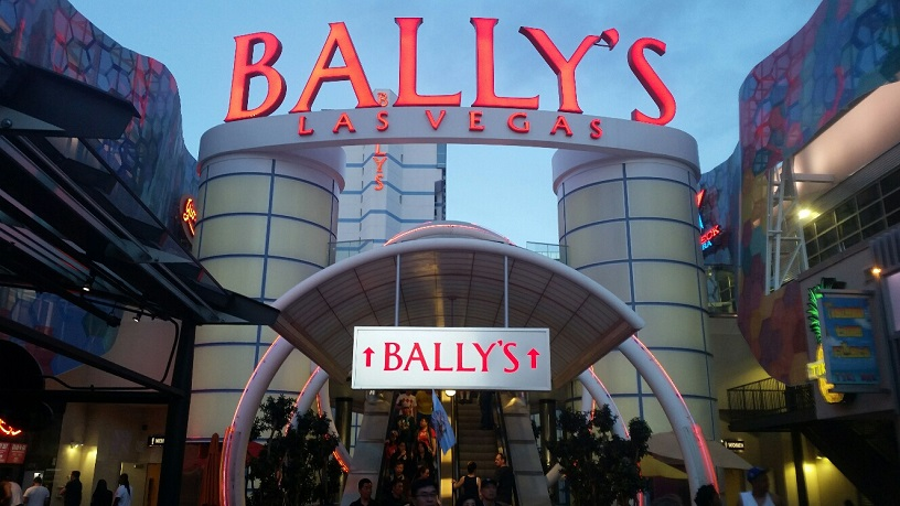 The new entrance to Bally's