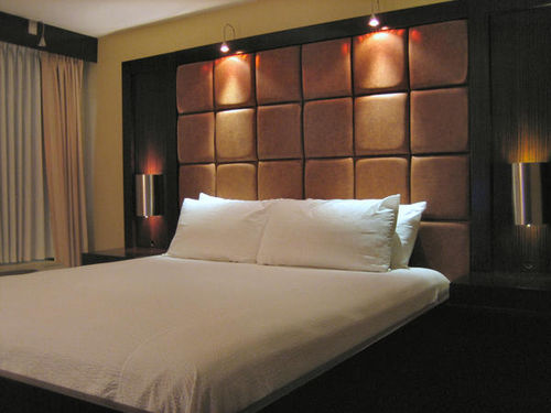 king bed guest room blue moon gay resort modern styl