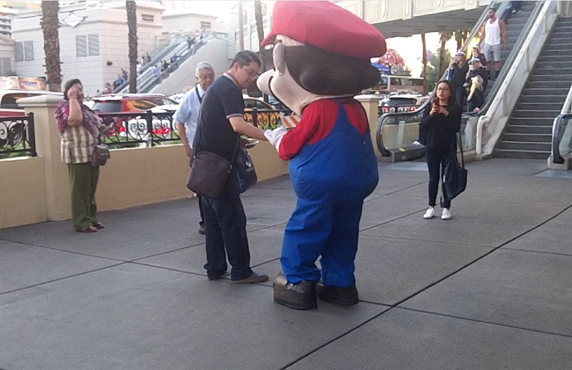 You can find Mario in front of Cromwell almost all the time, maybe there is more than one?