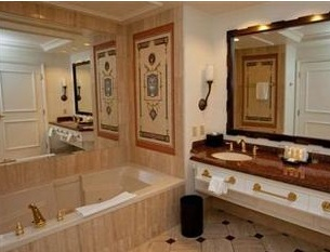 showing the bath tub and sink