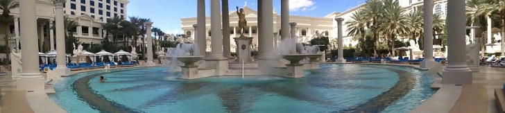 caesars palace swimming pool