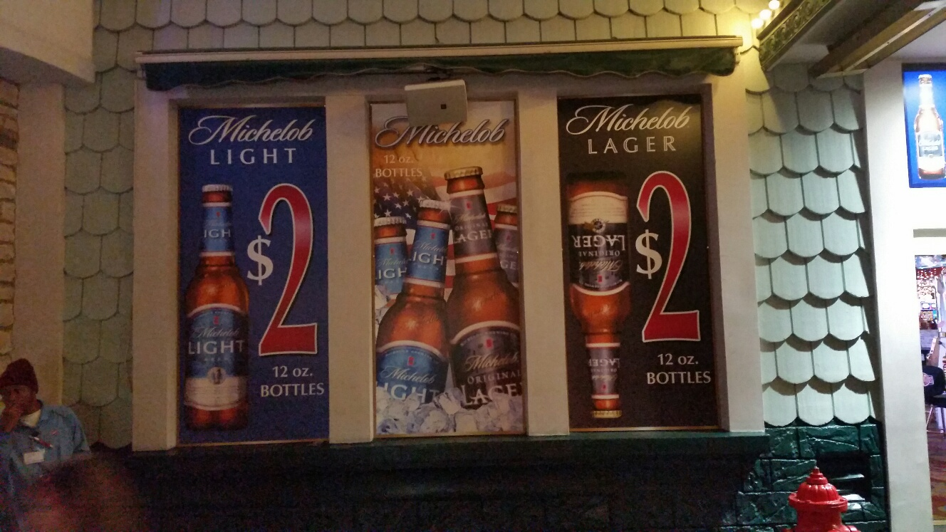Two dollars for a bottle beer all day everyday