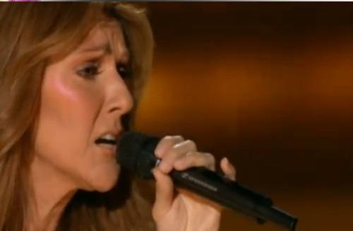 very serious celine singing in mi