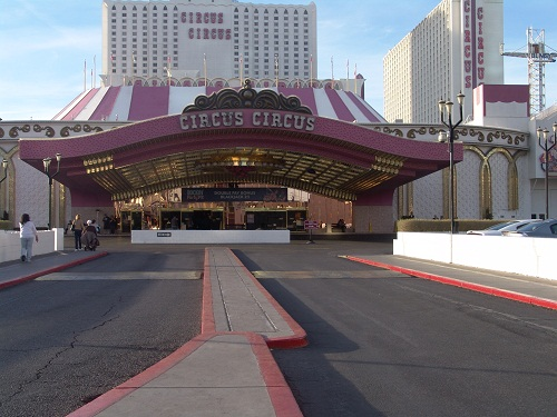 front of the big top