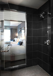 see the room while in the shower