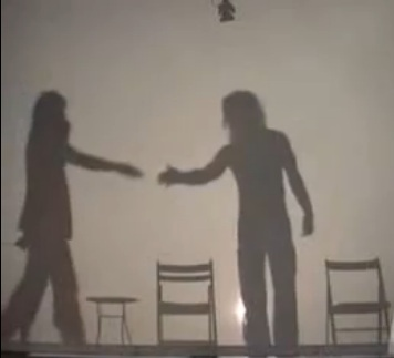 criss angel doing a shadow trick