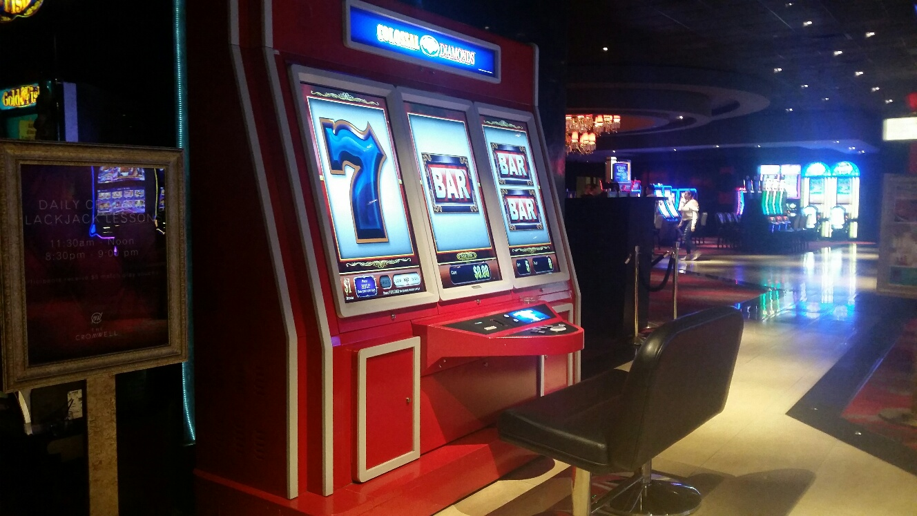 This huge Slot machine is a great picture taking spot