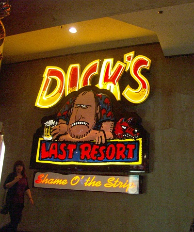 neon sign for dicks last resor