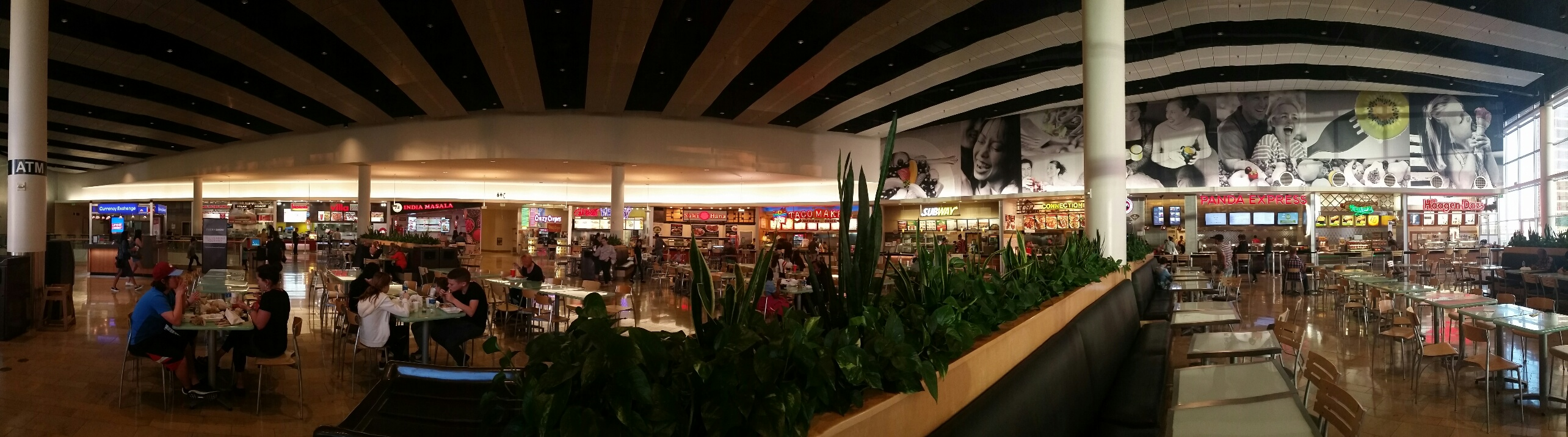Fashion Show Mall Food Court is the largest in Vegas