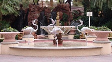 flamingo fountai