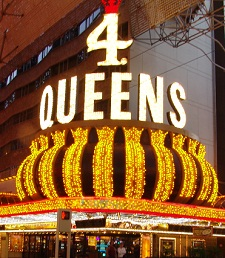 4 queens lit marquee
