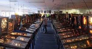 rows and rows of pinball machine