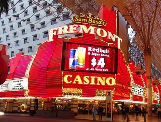 fremont at dusk downtown las vegas