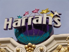 harrahs sign on front of buliding