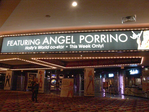 marquee showing angel porrino