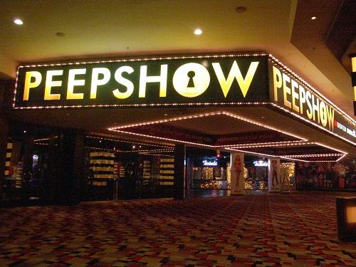peepshow theatre second floor planethollywood