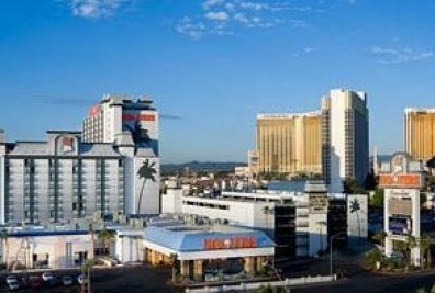 aerial view of hooters from skylofts las vega