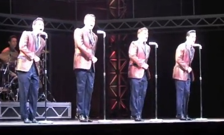 jersey boys in silver jacket