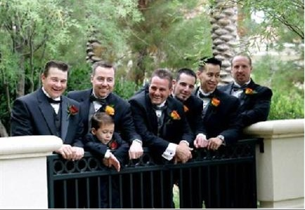 groomsman on bridge