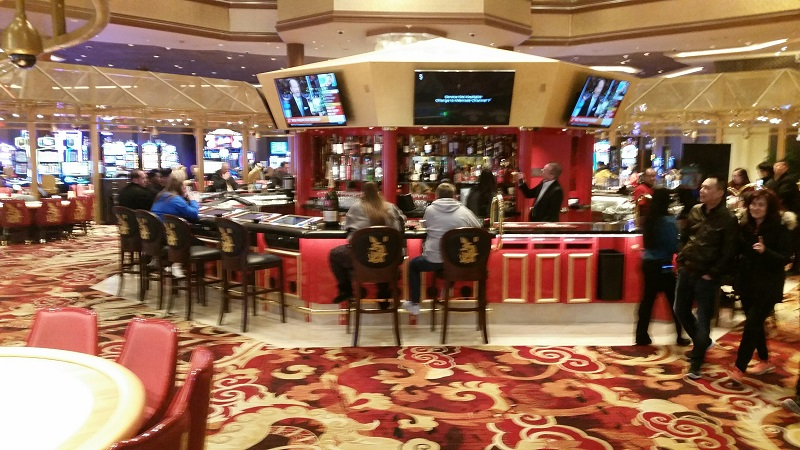 The Center Bar is Octagon Shaped which is lucky to Chinese People.