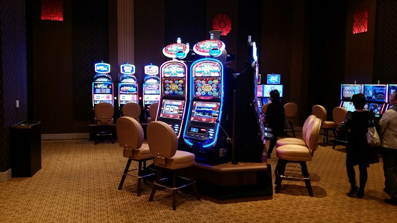 Slot area is clean and spacious