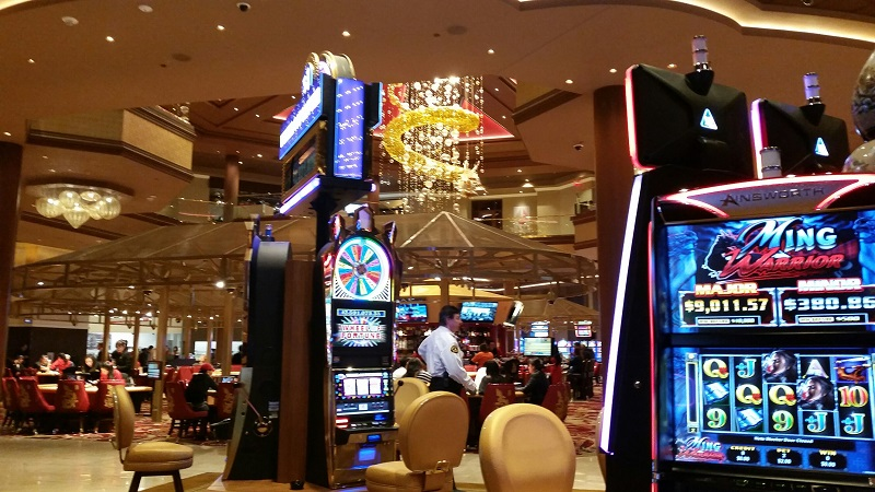 The Dragon coming from the ceiling is Lucky and the theme of the Hotel Casino