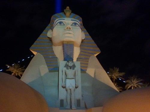 luxor Sphinx at nigh