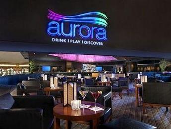 neon blue aurora at the luxo
