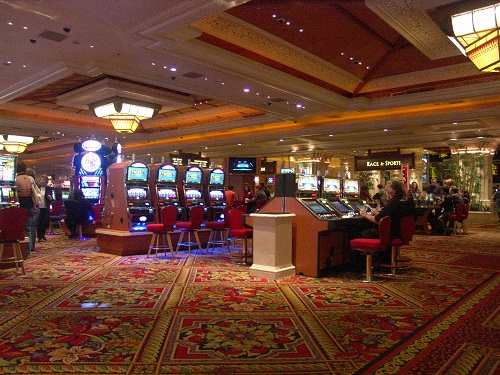 showing huge casino space