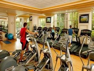 man on fitness machine