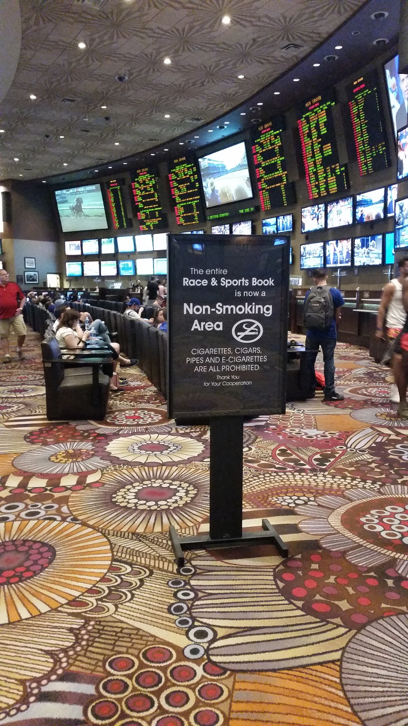 All MGM owned properties have gone non smoking in their sports books