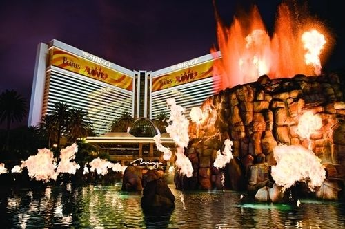 volocanic eruption at the mirage