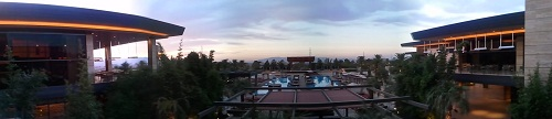 panoramic view of swimming pool