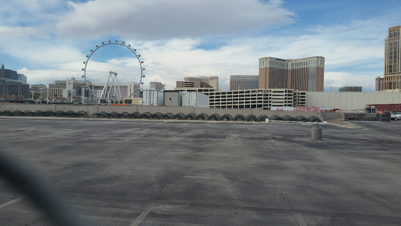 Site of the Madison Square Garden and Sands Joint project Concert Venue in Las Vegas