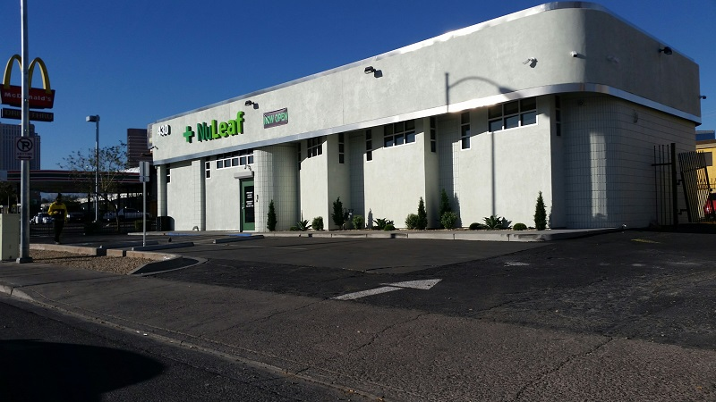 NuLeaf Dispensary is in walking distance to the Las Vegas Strip on Twain Ave