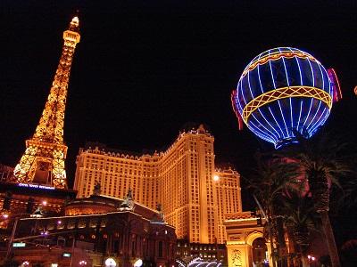 night view of paris resort