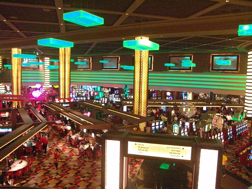 impressive view of the casino floor