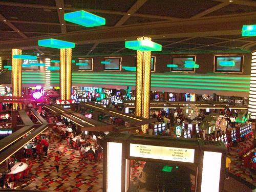 impressive view of the casino floor