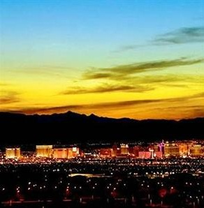 view of the lv strip from red rock