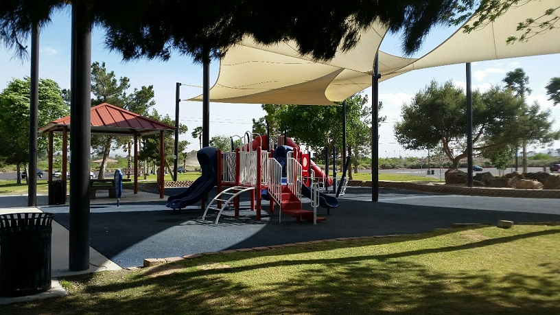 The park has multiple playgrounds